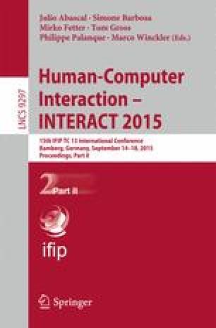 Human-Computer Interaction – INTERACT 2015
