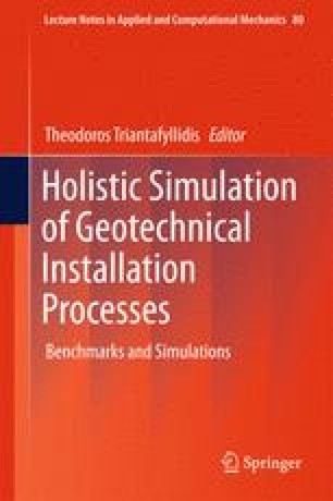 Holistic Simulation of Geotechnical Installation Processes