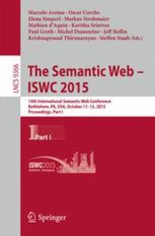 The Semantic Web - ISWC 2015