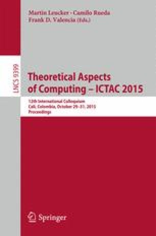 Theoretical Aspects of Computing - ICTAC 2015