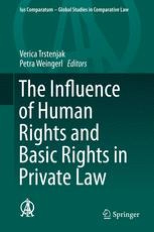 The Influence of Human Rights and Basic Rights in Private