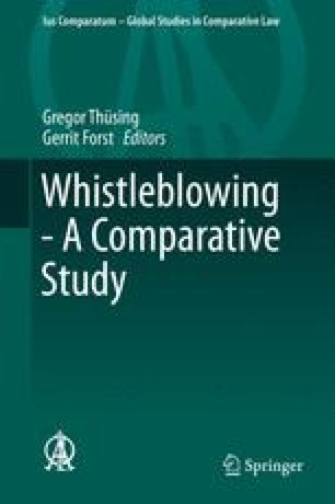 The Legal Response to Whistleblowing in Canada: Managing