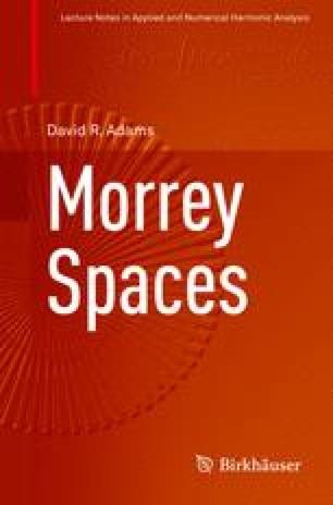 Morrey Spaces