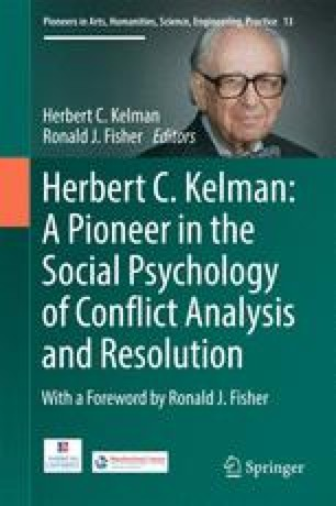 Herbert C. Kelman: A Pioneer in the Social Psychology of Conflict Analysis and Resolution