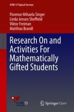 Research On And Activities For Mathematically Gifted Students