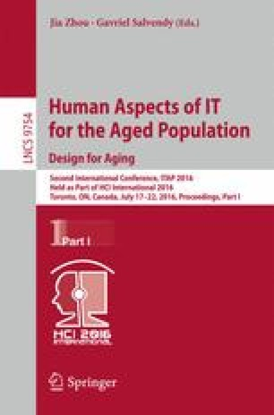 Human Aspects of IT for the Aged Population. Design for Aging