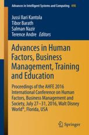Advances in Human Factors, Business Management, Training and Education