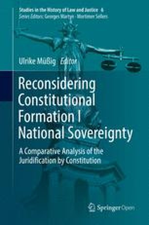 Juridification by Constitution. National Sovereignty in Eighteenth ...