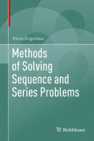Further Study of Sequences and Series   SpringerLink
