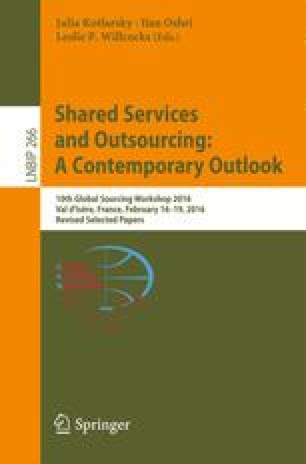 Shared Services and Outsourcing: A Contemporary Outlook