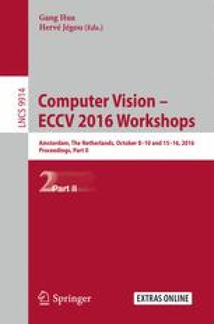 Computer Vision – ECCV 2016 Workshops