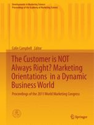 The Customer is NOT Always Right? Marketing Orientationsin a Dynamic Business World