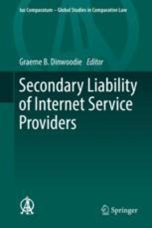 Internet Service Provider Copyright Infringement in Taiwan