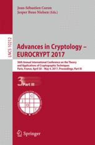 Advances in Cryptology – EUROCRYPT 2017