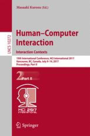 Human-Computer Interaction. Interaction Contexts