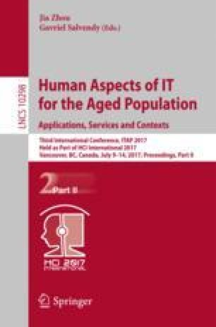 Human Aspects of IT for the Aged Population. Applications, Services and Contexts