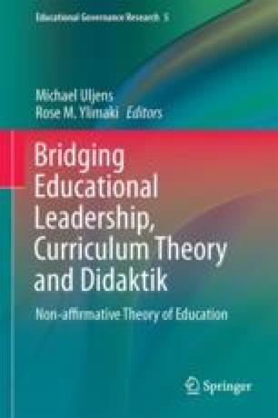 Bridging Educational Leadership, Curriculum Theory and Didaktik