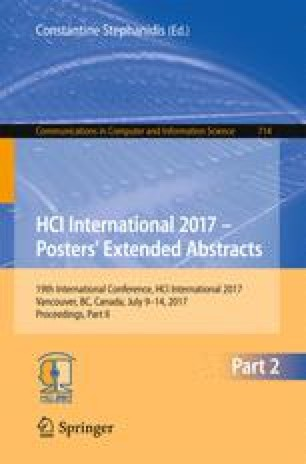 HCI International 2017 – Posters' Extended Abstracts