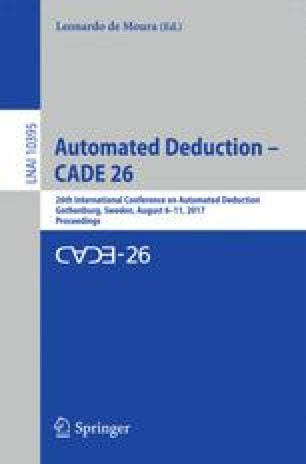 Automated Deduction – CADE 26