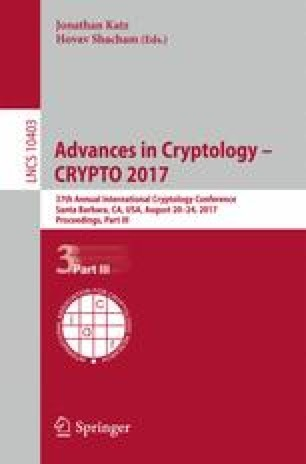 Advances in Cryptology – CRYPTO 2017