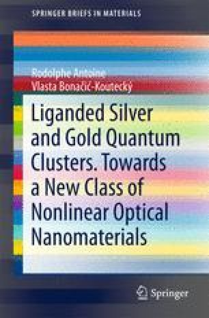 Liganded silver and gold quantum clusters. Towards a new class of nonlinear optical nanomaterials