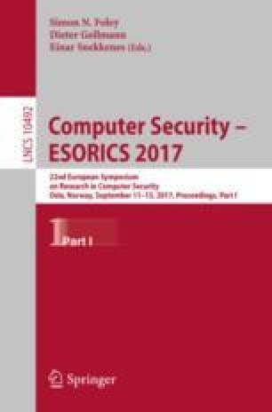Computer Security – ESORICS 2017