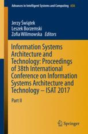 Information Systems Architecture and Technology: Proceedings of 38th International Conference on Information Systems Architecture and Technology – ISAT 2017