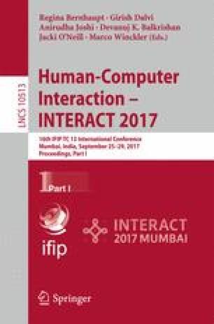 Human-Computer Interaction - INTERACT 2017