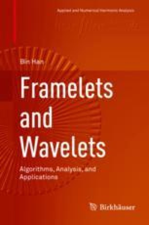 Framelets and Wavelets