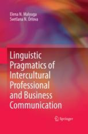 The theory of profesional and business communication in contemporary linguistic pragmatics of intercultural professional and business communication fandeluxe Choice Image