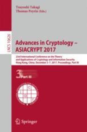 Advances in Cryptology – ASIACRYPT 2017