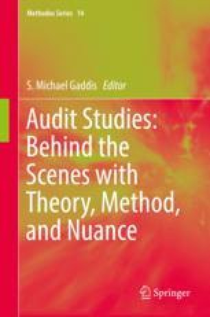 An Introduction to Audit Studies in the Social Sciences   SpringerLink