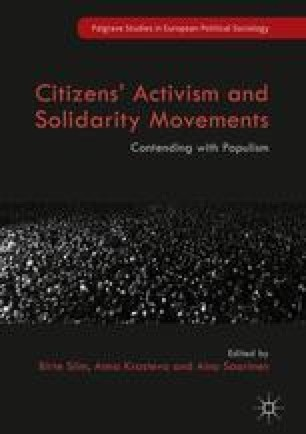 Citizens' Activism and Solidarity Movements