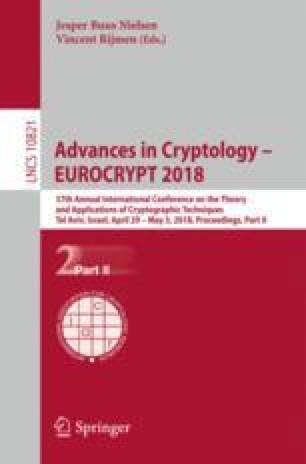Advances in Cryptology – EUROCRYPT 2018