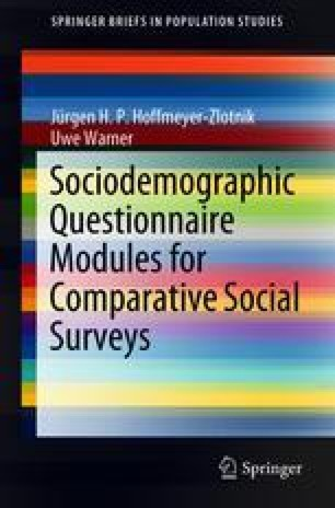 Sociodemographic Questionnaire Modules for Comparative Social Surveys
