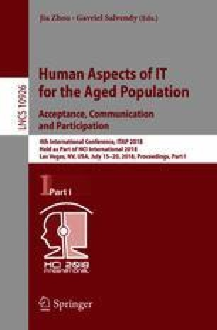 Human Aspects of IT for the Aged Population. Acceptance, Communication and Participation