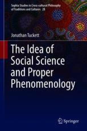 The Idea of Social Science and Proper Phenomenology