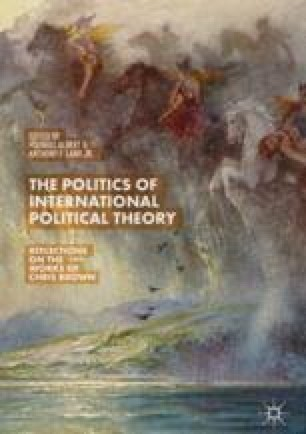 Introduction The Politics Of International Political Theory