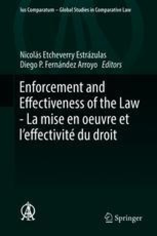Enforcement and Effectiveness of the Law -  La mise en oeuvre et l'effectivité du droit