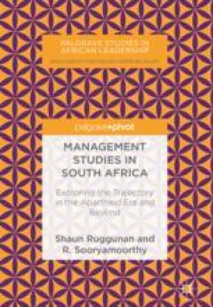 Management Studies in South Africa: From Practice to a