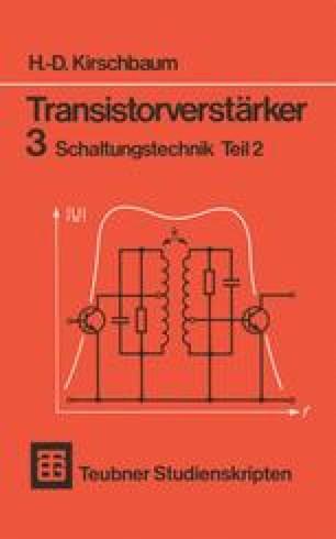 transistorverst rker 3 schaltungstechnik teil 2 springerlink. Black Bedroom Furniture Sets. Home Design Ideas