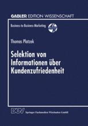 Selektion von Informationen über Kundenzufriedenheit