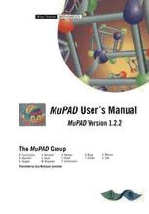 MuPAD User's Manual