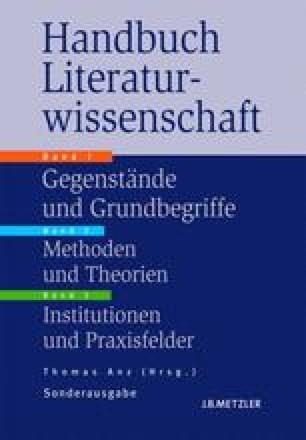 Handbuch Literaturwissenschaft