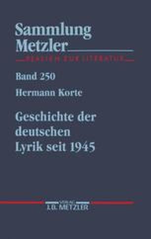 Tradition Und Artistik Die Fünfziger Jahre Springerlink