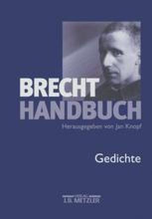 Gedichte 19241933 Springerlink