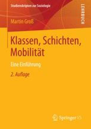 Klassen, Schichten, Mobilität