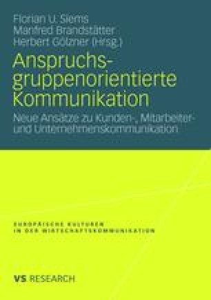 Anspruchsgruppenorientierte Kommunikation