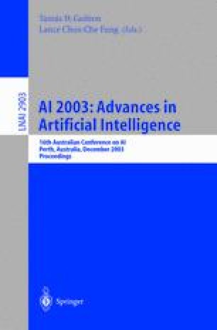 AI 2003: Advances in Artificial Intelligence