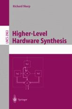 Higher-Level Hardware Synthesis